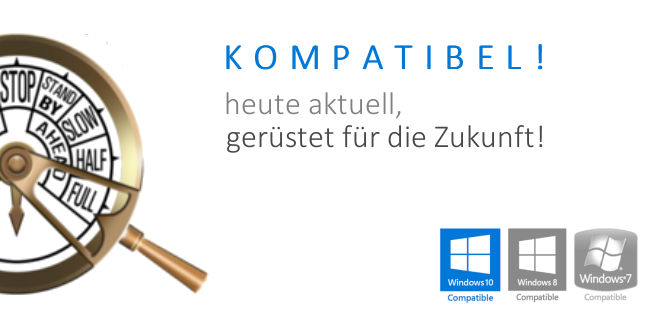 Digital Signage Software enlogic:show kompatibel zu Windows 10, Windows 8 und Windows 7